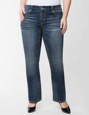 Ombre stitch slim boot jean by Seven7