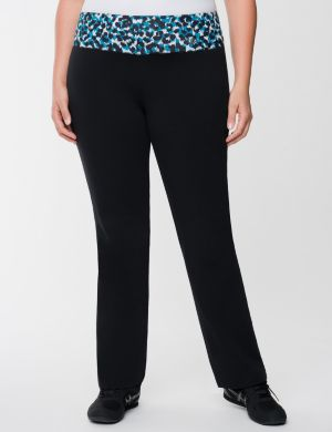 Yoga pant with animal print waist