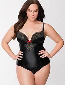 Shimmer embroidered corset by LANE BRYANT