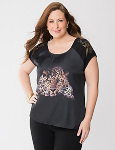 Cheetah high low tee