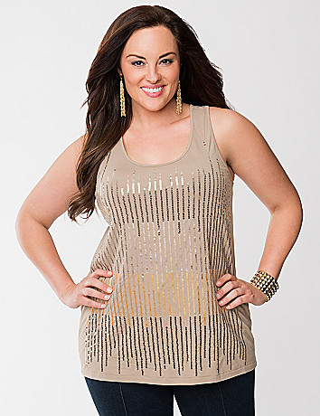 Lane Collection sequin tank