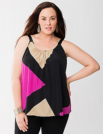 Lane Collection geo print tank