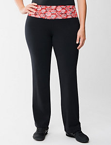 Yoga pant with printed waist by Lane Bryant