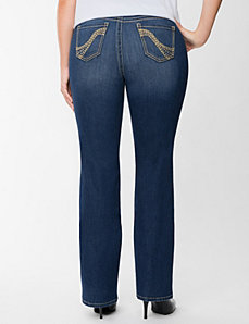 Genius Fit™ studded slim boot jean by LANE BRYANT