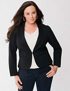 Lane Collection ponte tuxedo jacket by LANE BRYANT