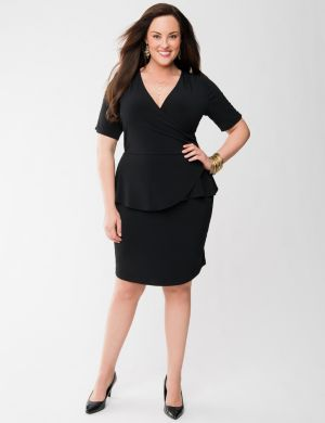 Lane Collection ponte peplum dress