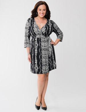 Wrap dress with zippers