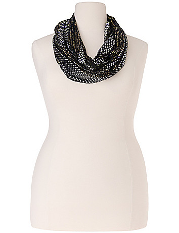 Sequined eternity scarf