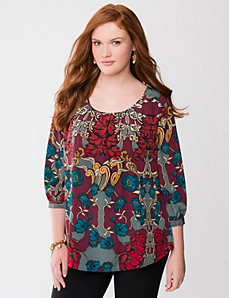 Beaded floral blouse