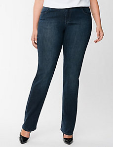 Straight fit straight leg jean by LANE BRYANT
