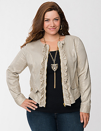 Foiled ruffled jacket