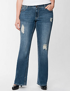 Destructed bootcut jean by Lane Bryant