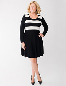 Skater sweater dress by Lane Bryant