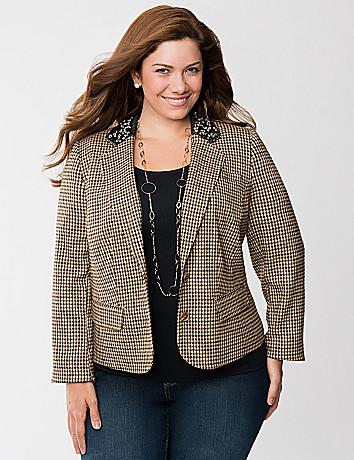 Jeweled collar jacket