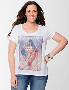 Have Fun high low tee by LANE BRYANT