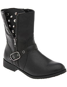 Embellished moto boot by Lane Bryant