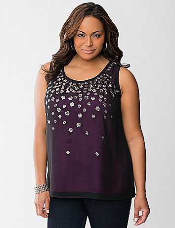 Sequined layered tank