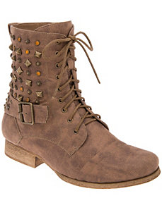 Embellished combat boot
