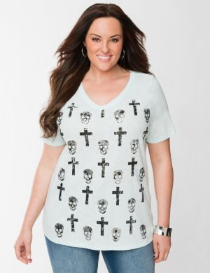 Skull and cross tee