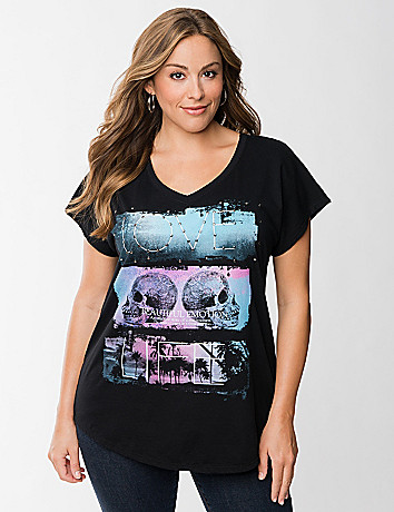Studded skull graphic tee