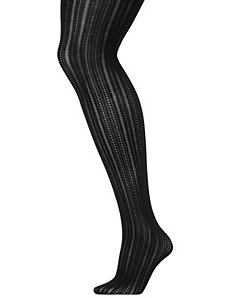 Pointelle striped tights