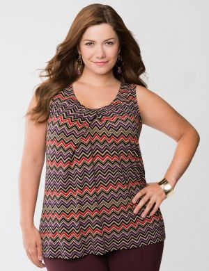 Chevron scoop neck tank