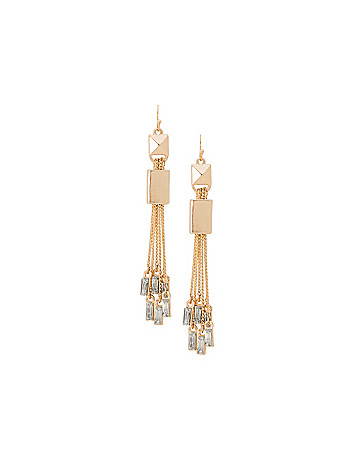 Mirrored stone drop earrings by Lane Bryant