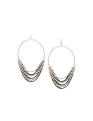 Multi chain hoop earrings by Lane Bryant