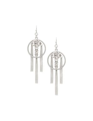 Hoop & chain drop earrings by Lane Bryant