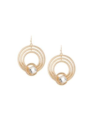 Lane Collection knotted hoop earrings