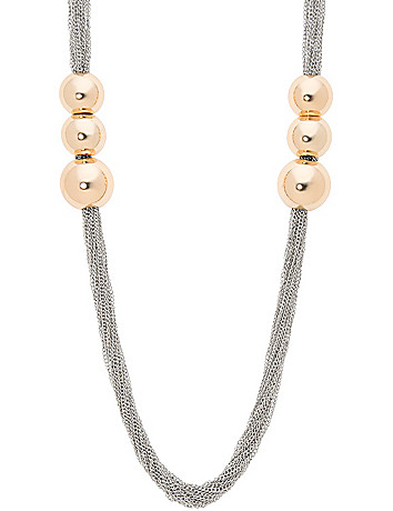 Ball & chain necklace by Lane Bryant
