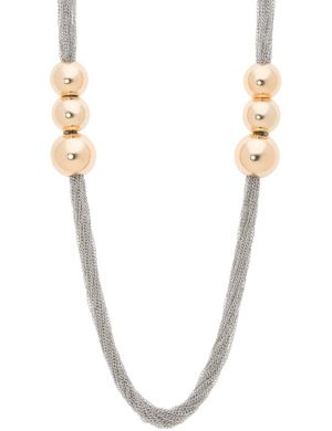 Ball & chain long necklace by Lane Bryant