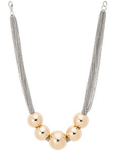 Ball & chain short necklace by Lane Bryant