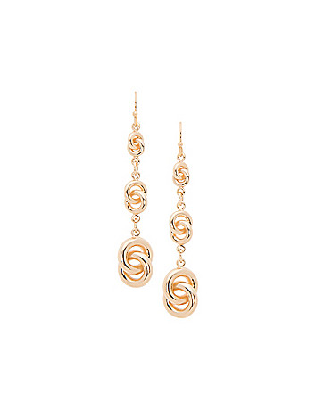 Linear knot earrings by Lane Bryant