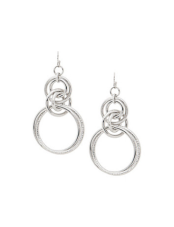 Multi hoop drop earrings by Lane Bryant