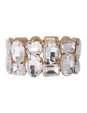 Lane Collection mirrored stone stretch bracelet