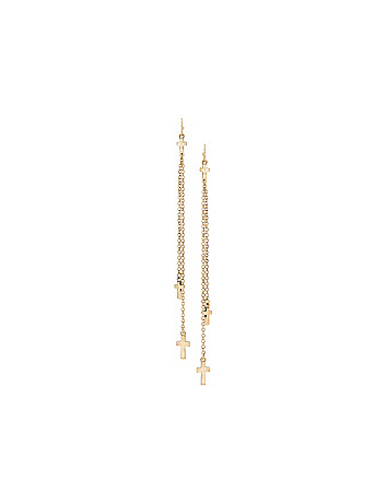 Cross and chain earrings by Lane Bryant