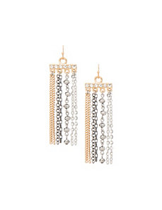Multi chain earrings by Lane Bryant by LANE BRYANT