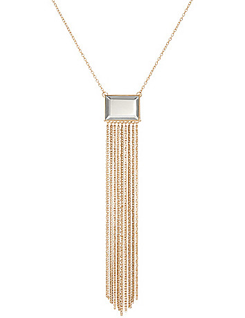 Mirror & tassel necklace by Lane Bryant