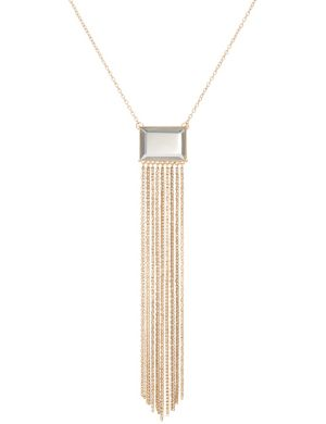 Lane Collection mirror & tassel necklace