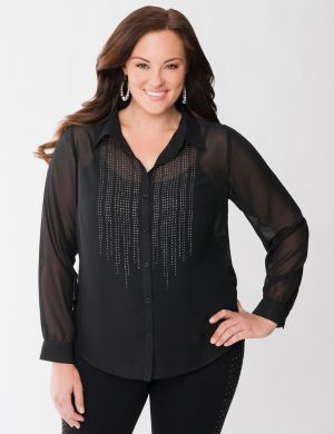 Lane Collection embellished shirt