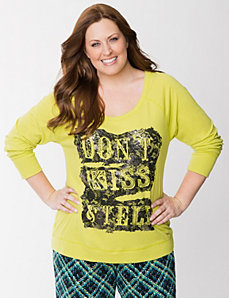 Kiss & Tell sleep top by LANE BRYANT