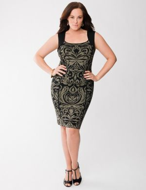 Lane Collection intarsia scroll dress