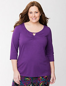 3/4 sleeve sleep tee by LANE BRYANT
