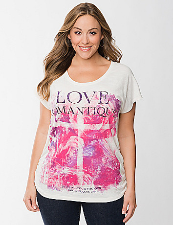 Love shirred tee