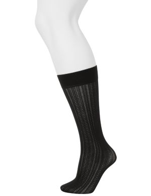 Striped & solid trouser socks 2-pack