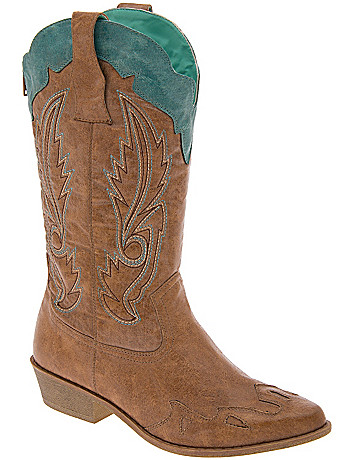 Two tone cowgirl boot