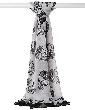 Studded skull scarf