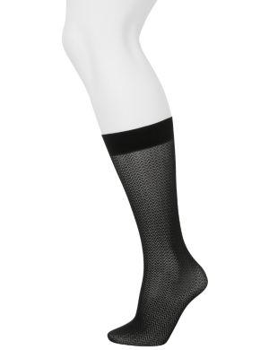 Chevron & solid trouser socks 2-pack