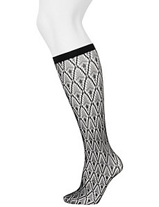 Solid & diamond trouser sock 2-pack